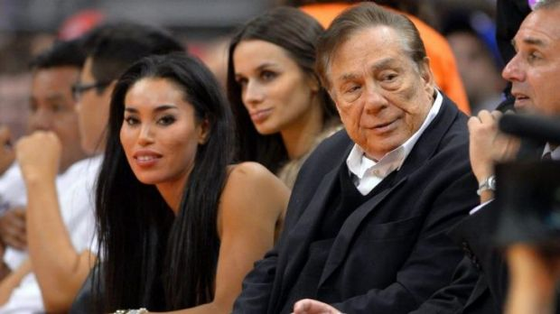 Donald Sterling and then-girlfriend V. Stiviano, pictured in October of last year