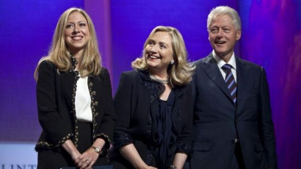 """Struggled"" to pay for education: Hillary Clinton with her daughter, Chelsea, and husband Bill. By  2001, they had ..."