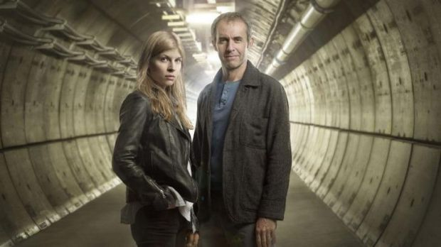 On the case: Clemence Poesy and Stephen Dillane as detectives in The Tunnel on ABC1.