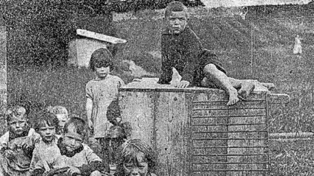 "Children at ""the Home"" in Ireland in 1924 (Connaught Tribune, 21st June 1924)."