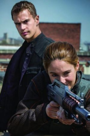 <i>Divergent</i> stars Theo James and Shailene Woodley.