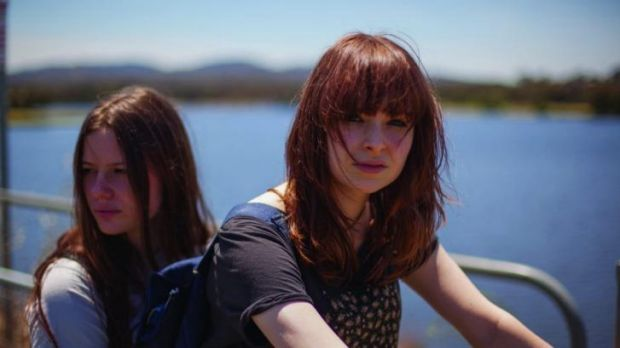 Laura (Lily Sullivan) and Billie (Ashleigh Cummings) in a scene from Galore, directed by Rhys Graham.
