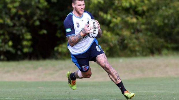 Josh Dugan is put through his paces on Wednesday.