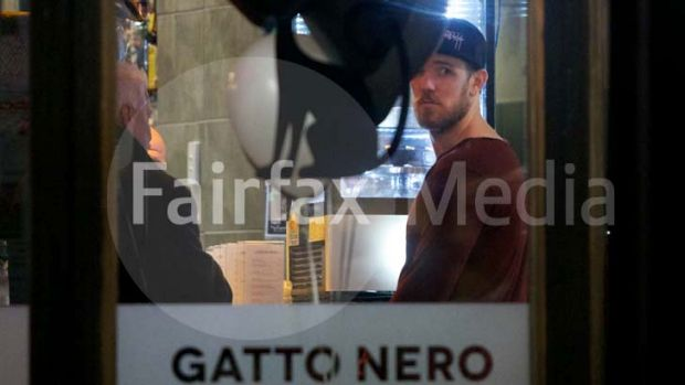 Magpie in demand: Collingwood star Dane Swan pictured at Gatto Nero restaurant.