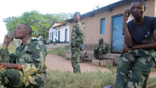 Soldiers from the Democratic Republic of Congo army.
