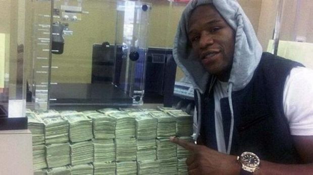 In the money: Floyd Mayweather.