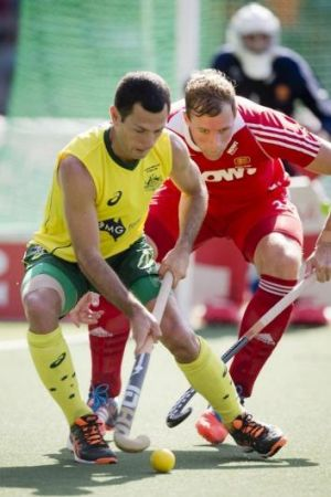 Jamie Dwyer in action against England.