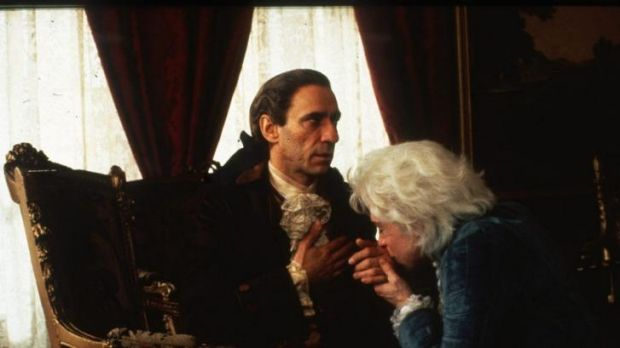 Murder mystery: F. Murray Abraham, left,  and Tom Hulce compare notes  in Amadeus.