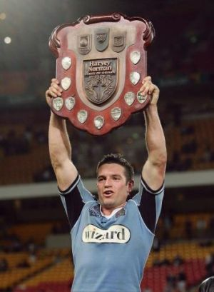 Distant memory: Danny Buderus holds up the trophy in 2005.