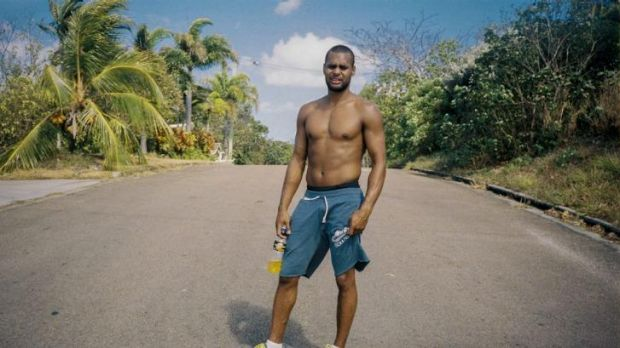 Patty Mills at home on Thursday Island.