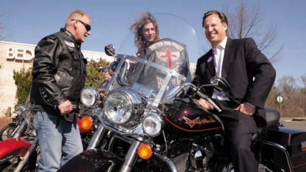Riding high: David Brat, the conqueror of House majority leader Eric Cantor, on the campaign trail with members of the ...