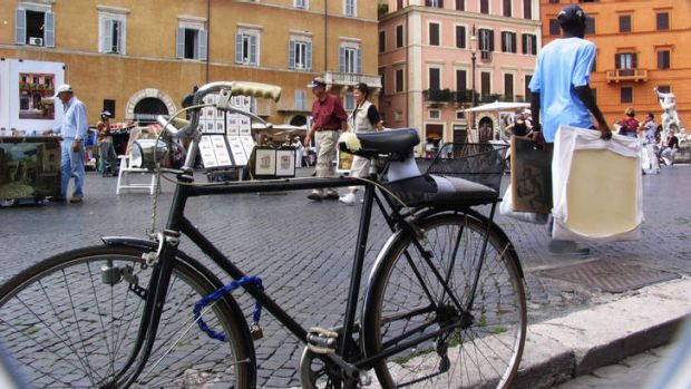 No sweat: an aversion to perspiration has helped stymie bike sharing in Rome.
