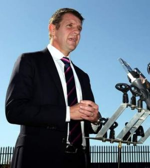 NSW Premier Mike Baird wants to sell power.