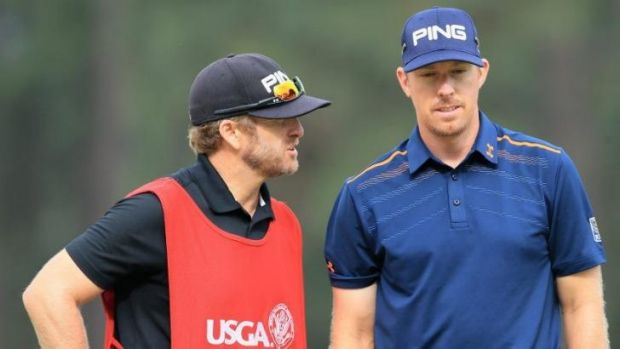 Dumb error: Hunter Mahan's caddie John Wood accepted blame for the mix-up.