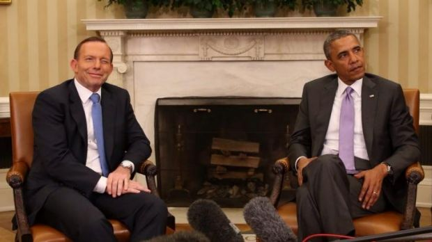 Joint op-ed: Prime Minister Tony Abbott with US President Barack Obama this week.