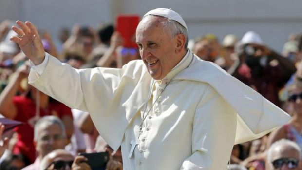The open-air Pontiff: Pope Francis has ditched the PopeMobile.