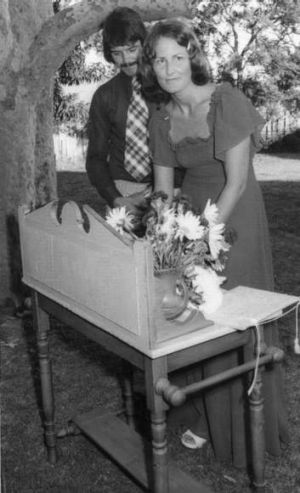 Pip and Dennis on their wedding day, 40 years ago.