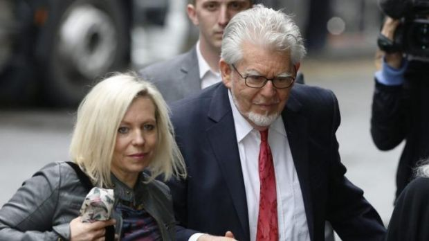 Show of support: Rolf Harris arrives at Southwark Crown Court with his daughter Bindi on Wednesday.
