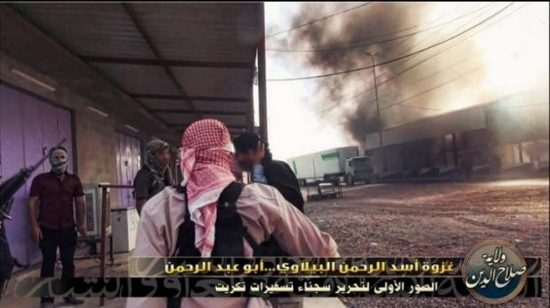 ISIL members during an attack.