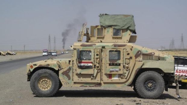 An abandoned Iraqi military vehicle outside Kirkuk.