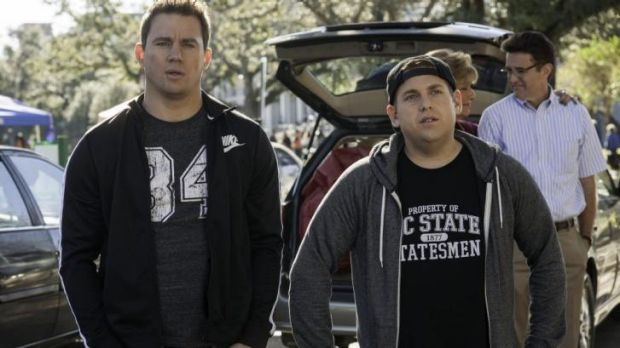 Less costly ... Channing Tatum, left, and Jonah Hill star in <i>22 Jump Street</i>.
