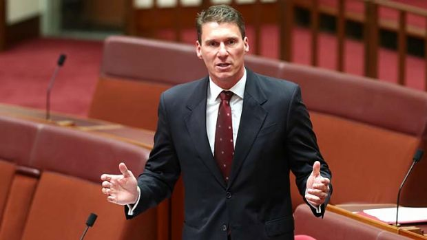 Senator Cory Bernardi during the debate on the deficit levy on Monday.