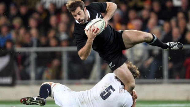 Injury blow: Conrad Smith of New Zealand.