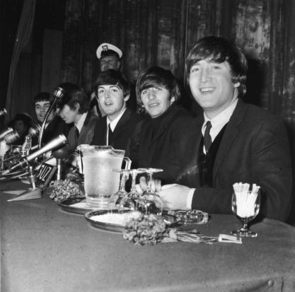 The Beatles press conference at the Southern Cross Hotel, Melbourne, June 15 1964.