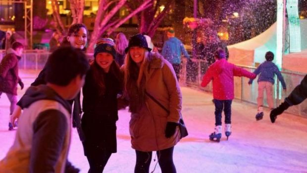 The James St Amphitheatre is set to become an ice rink.