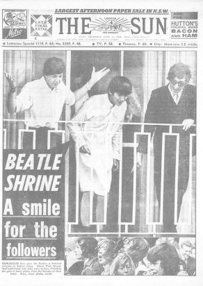 The front page of The Sun, Thursday June 11, 1964. Source: Fairfax archives.