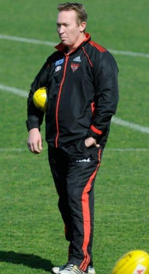 Conditioning guru Dean 'the Weapon' Robinson when he was with Essendon.
