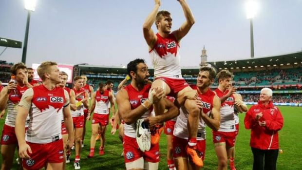 """""""Playing an occasional game in Canberra is an option we would look at"""": Swans chairman Andrew Pridham."""