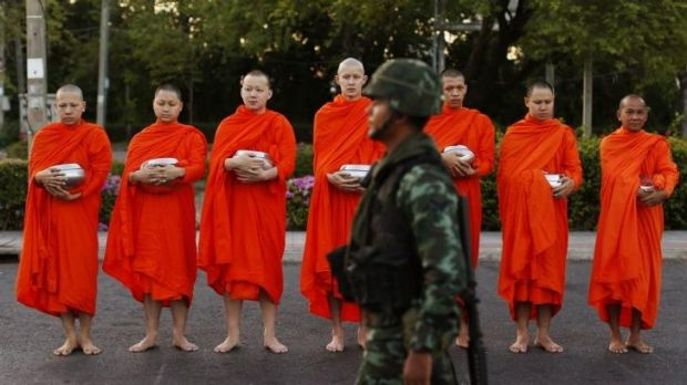 Some of the good ones: Thai monks in Bangkok after the May coup.