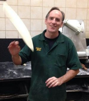 Manager Alan Lawrie has been working on and off at Greenwood Pizza since 1987.