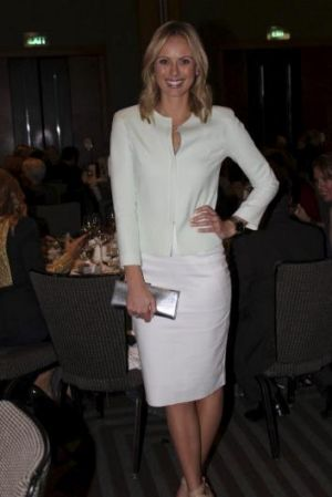 Today Show newsreader Sylvia Jeffreys at The Black and White Committee Women of Achievement Luncheon at The Four Seasons ...