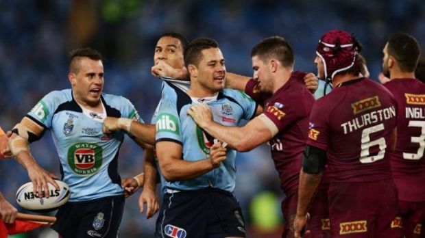 """While there will always be plenty of passion and feeling in State of Origin matches, the players realise that punching ..."
