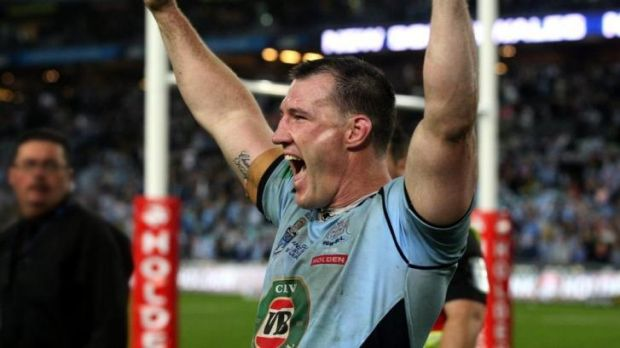Finally: Paul Gallen salutes the crowd.