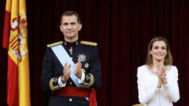 Coronation: King Felipe VI and Queen Letizia of Spain.