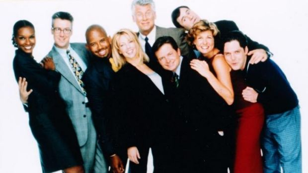 The cast of Spin City.