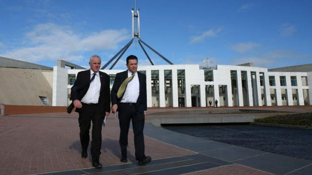 Potential crossbench revolt: DLP Senator John Madigan and Independent Senator Nick Xenophon.