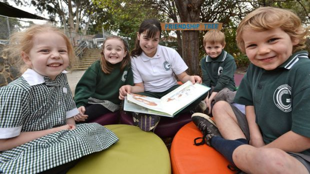 Student welfare: Life's good under the friendship tree for Greensborough Primary pupils.
