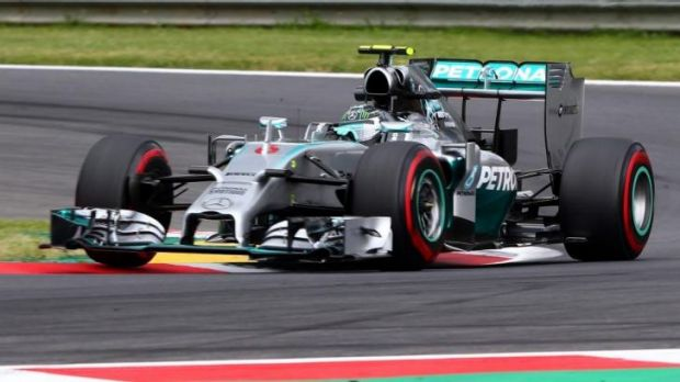 Mercedes driver Nico Rosberg during Friday's practice for the Austrian Grand Prix.
