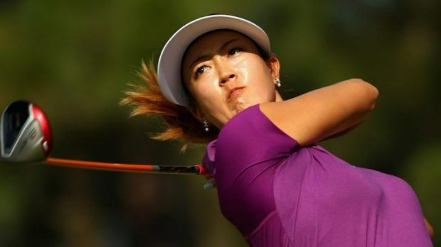 Michelle Wie snared the lead during the second round of the US Open.