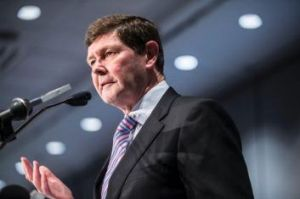 Kevin Andrews speaking in Brisbane earlier in June.