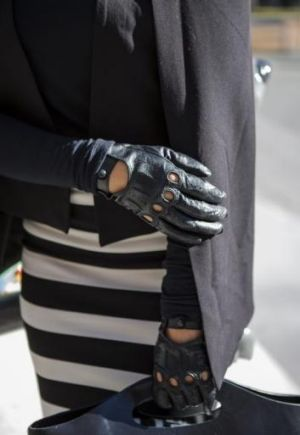 Janette Lenk, detail photo of gloves.