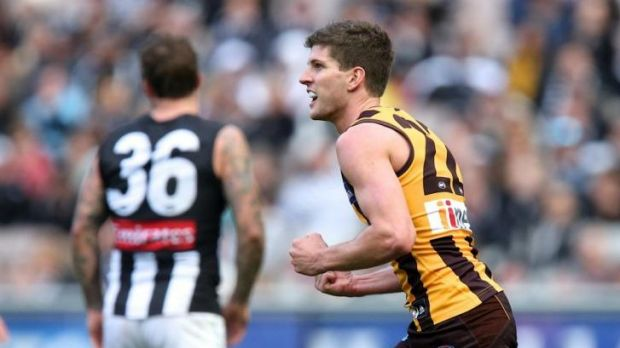 Luke Breust played a crucial role in Hawthorn's victory.
