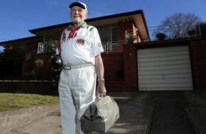 Going strong: Canberra bowler Bert Sheppeard will celebrate his 90th birthday on Sunday.