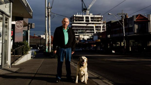 Elsternwick resident Murray Mehmet, with his dog Bill, believes there is a mismatch between what is being developed and ...