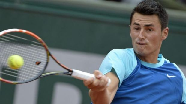 Feeling good: Bernard Tomic.
