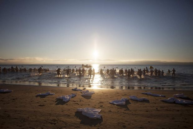 Dark Mofo's second annual solstice nude swim.